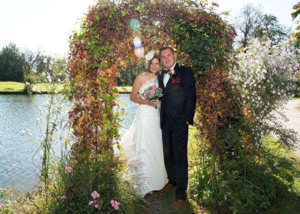 Muenchen Hochzeit goldenen Herbst
