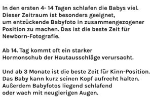 Info Babyfotoshooting München